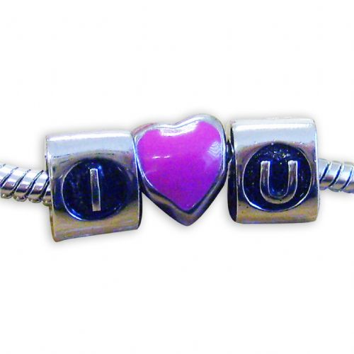 Personalised I Heart U Charms